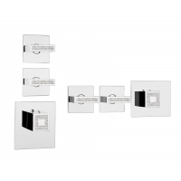 Z033203-050 + Z030201 000 - Crystal Line Rectangular 2 Outlets